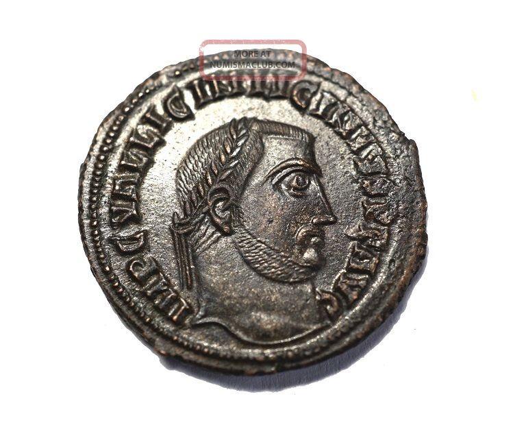 Ae 20mm Of Licinius Iovi Alexandria Coins: Ancient photo