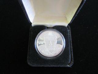 Limited Edition Joe Montana 1oz.  Fine Silver Proof Box.  999 1828 Art Round Rare photo