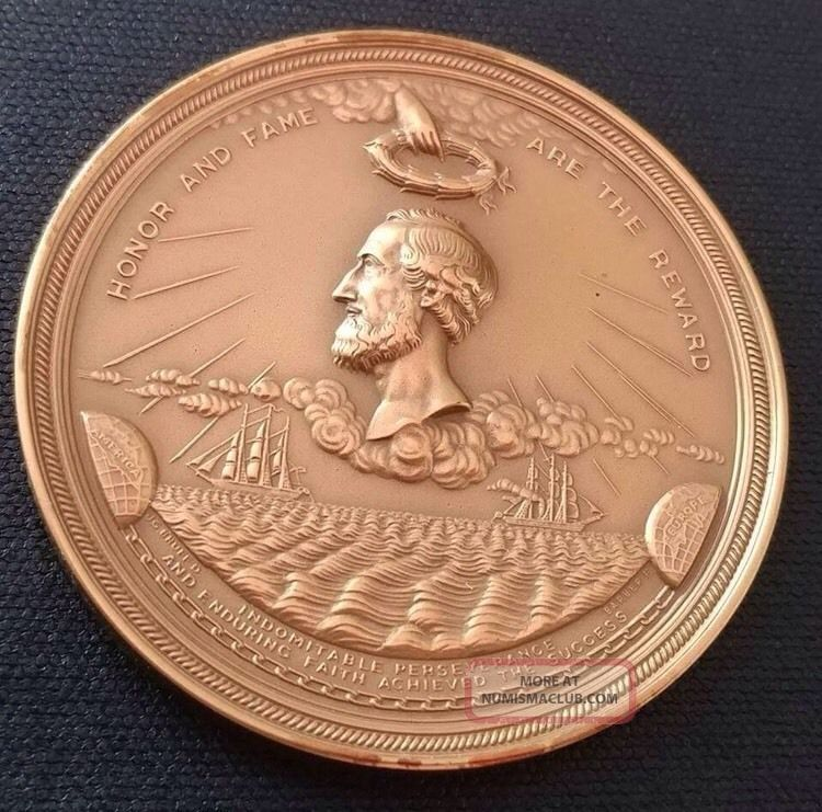 Cyrus Field Atlantic Cable Bronze Medal From Congress 1867 Us Huge 3
