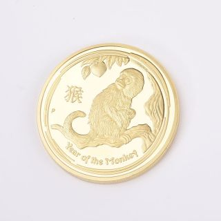 Year Of The Monkey Alloy Commemorative Coin Gift With Acrylic Coin photo