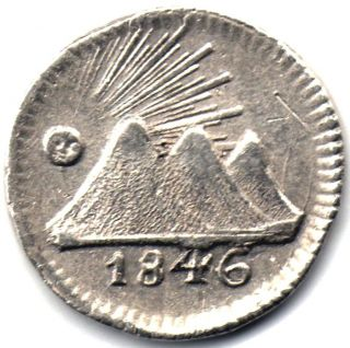 Guatemala,  Silver 1/4 Real 1846,  Central American Republic photo