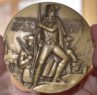 1961 Society Of Medalists Issue 63,  Freedom Of Worship Bronze Medal 2 3/4