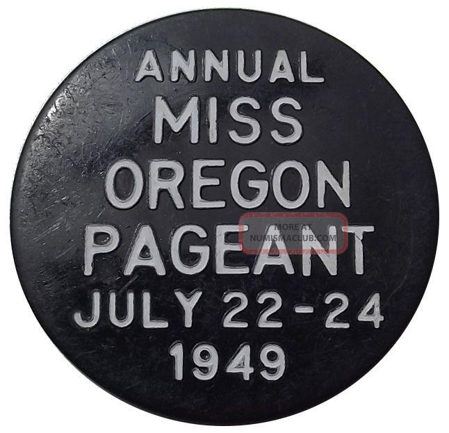 Oregon Trade Token - 1949 Miss Or Pageant,  Seaside,  1940s,  Beach Town Exonumia photo