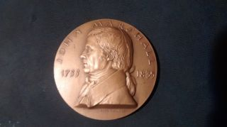 Collectible Bronze Medallion Of Chief Justice John Marshall photo