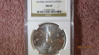 2010 Mexico 1 Oz Silver Libertad Ngc Ms 69 photo