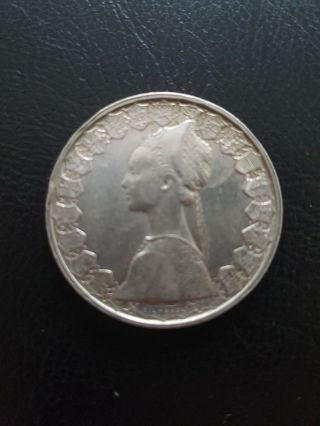 500 Lire Silver Italian Coin 1959 photo
