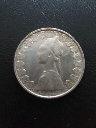 500 Lire Silver Italian Coin 1959 photo