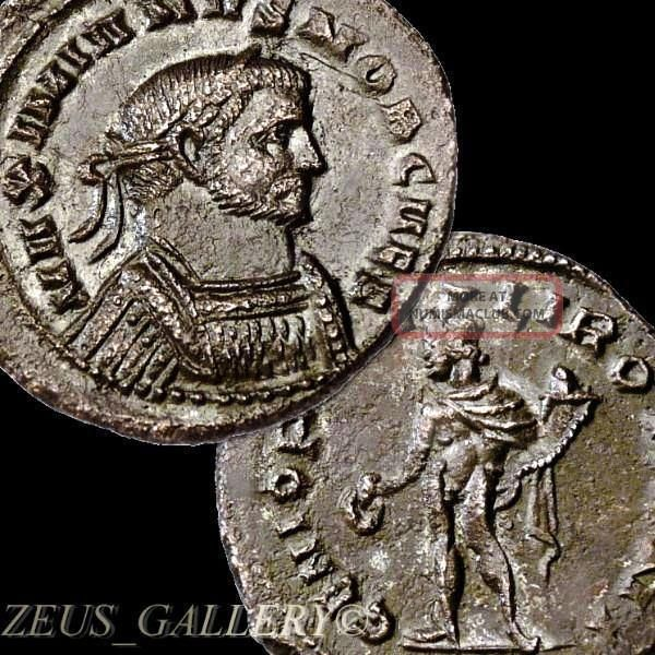 Galerius As Caesar Very Rare R3 In Ric Ancient Roman Æ Follis Large Coin London Coins: Ancient photo