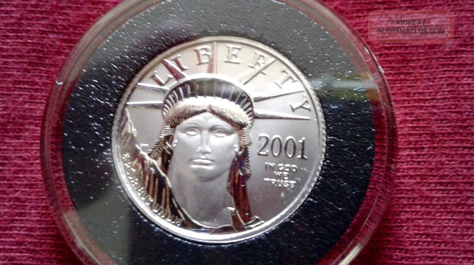 2001 Platinum American Eagle.  1/4 Oz.  Brilliant Uncirculated. Platinum photo