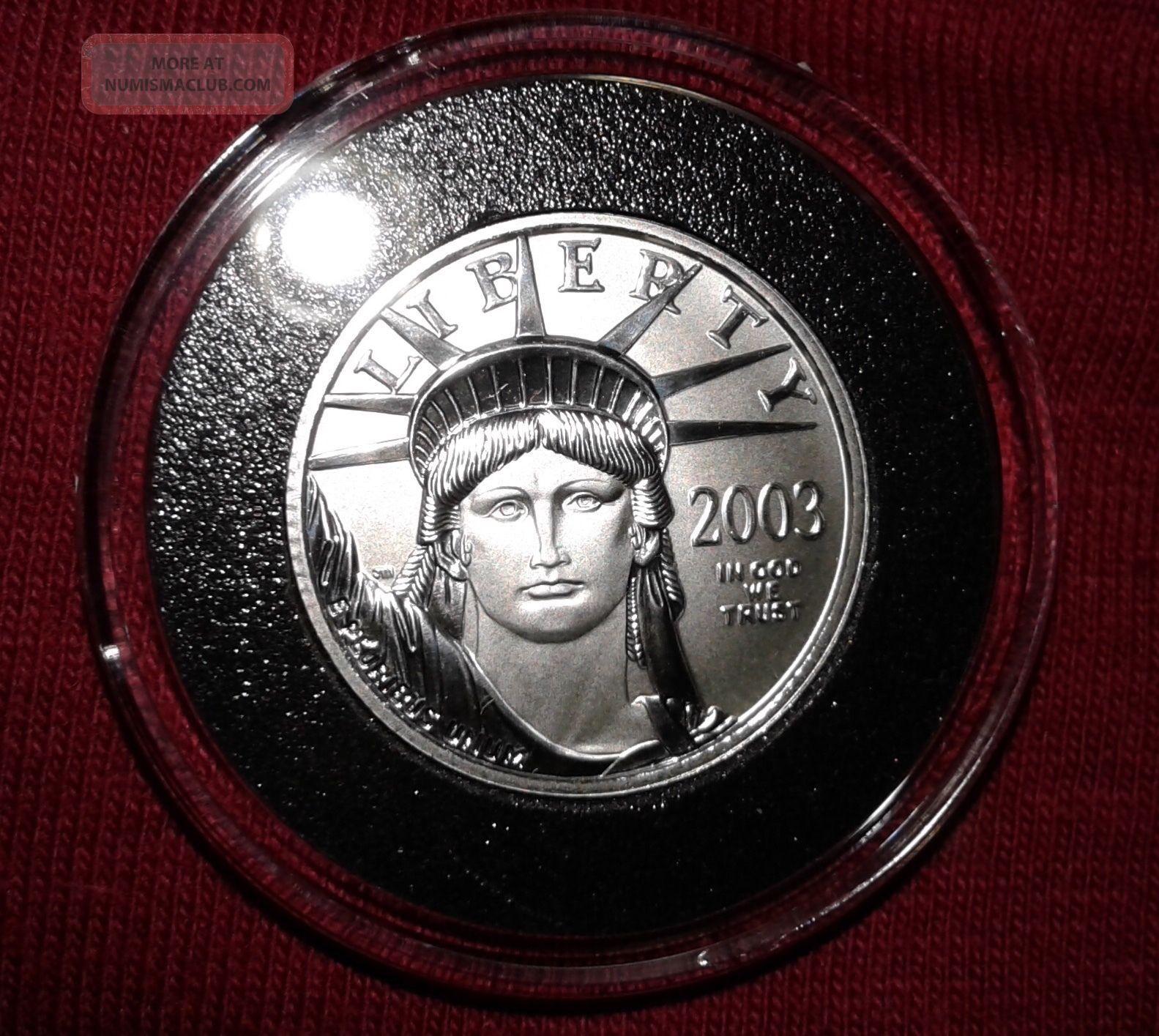 2003 Platinum American Eagle.  1/4 Oz.  Brilliant Uncirculated. Platinum photo