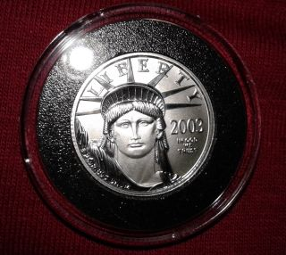 2003 Platinum American Eagle.  1/4 Oz.  Brilliant Uncirculated. photo
