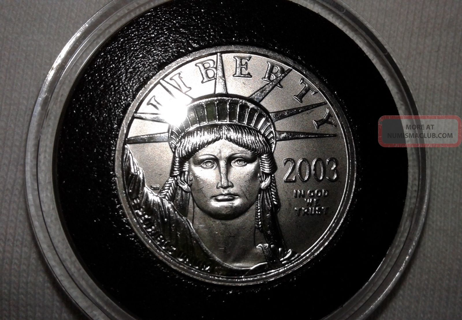2003 Platinum American Eagle.  1/4 Oz.  Brilliant Uncirculated. Coins photo