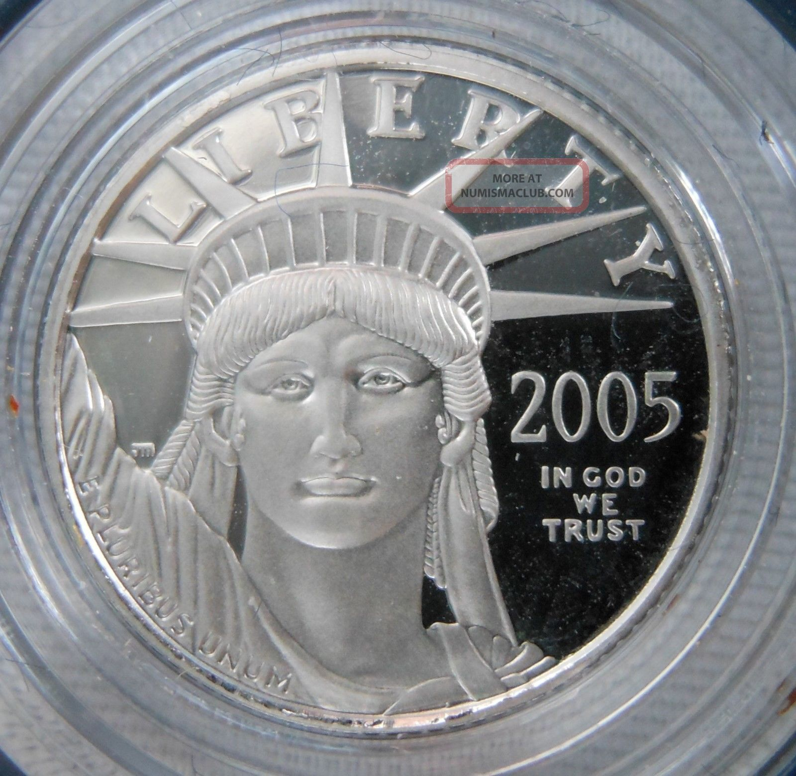 2005 - W 1/10 Ounce Platinum Eagle Bullion Proof Coin W/box & Platinum photo
