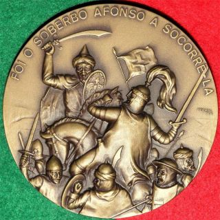 King Afonso Iv / Battle / Large Medal By Baltazar photo