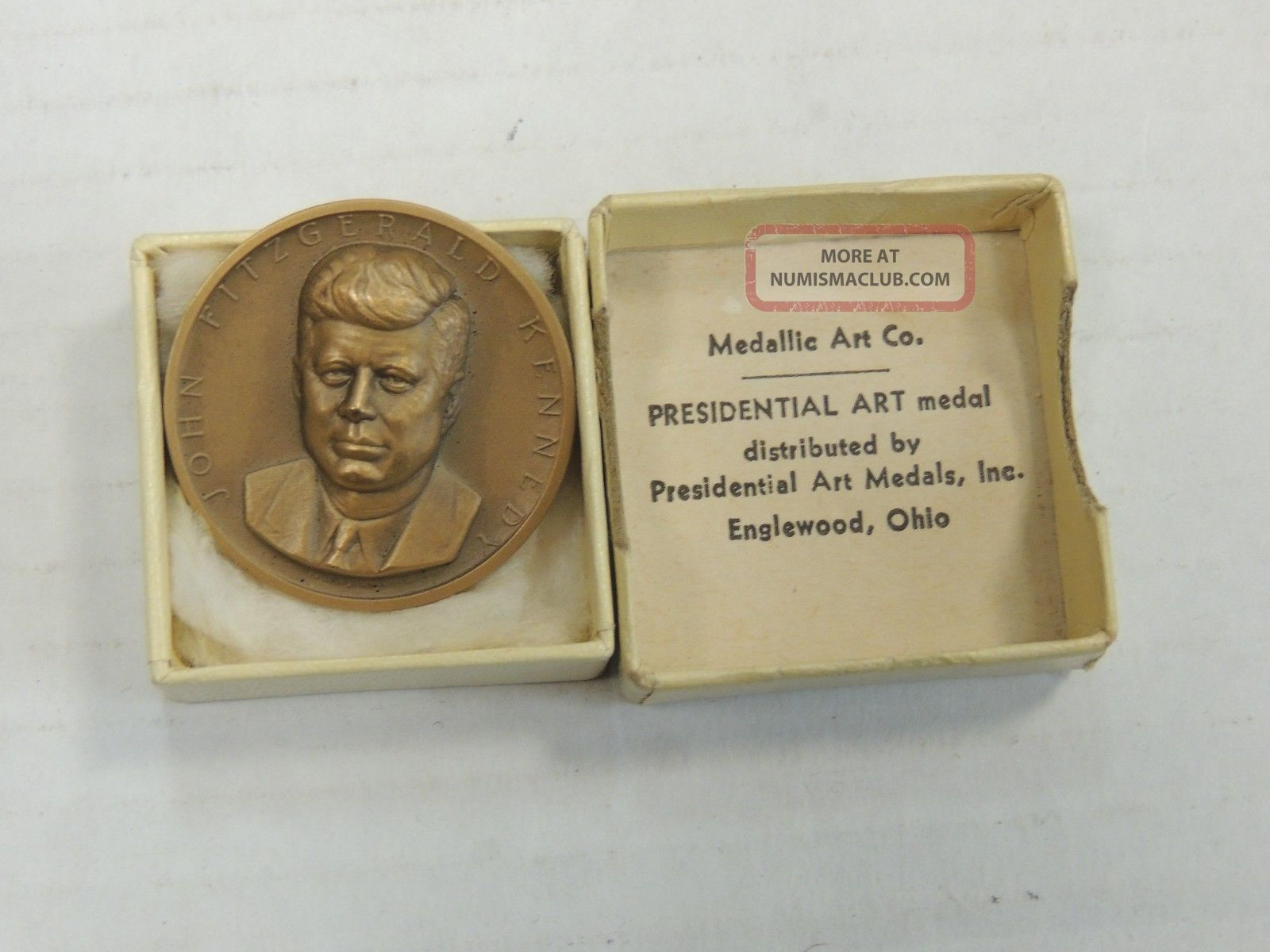 Medallic Art Co.  John F.  Kennedy Presidential Inauguration Commemorative Medal Exonumia photo