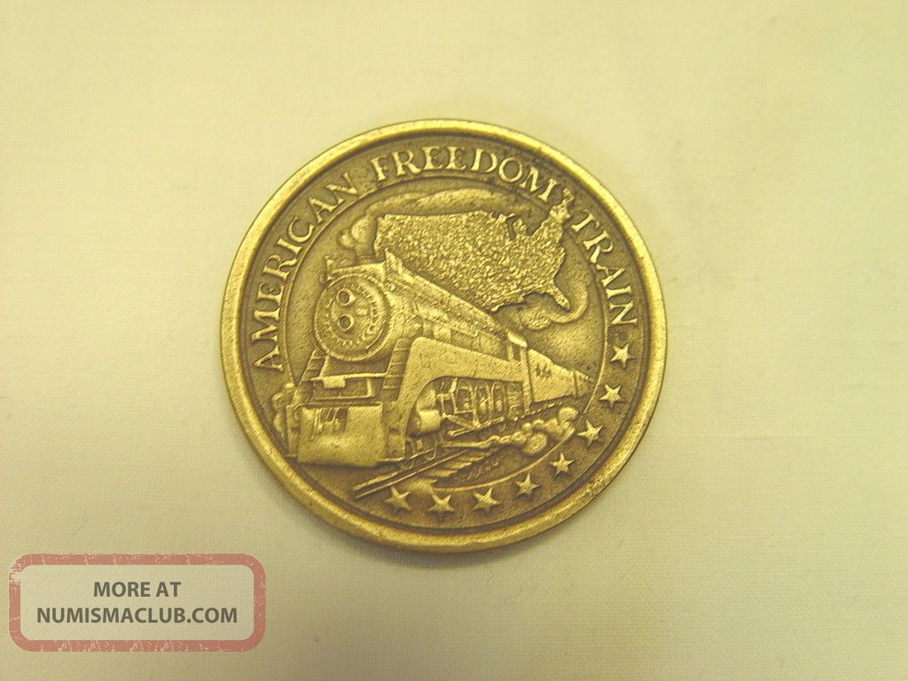 Bronze American Freedom Train Collectors Coin Bicentennial Journey 1776 - 1976 Exonumia photo