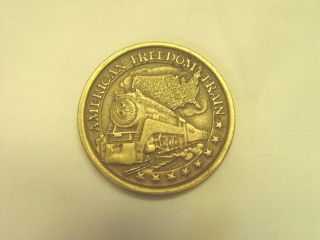 Bronze American Freedom Train Collectors Coin Bicentennial Journey 1776 - 1976 photo