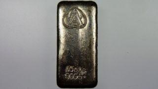 Ainslie Bullion Company 10oz 999.  5,  Silver Cast Bullion Bar photo