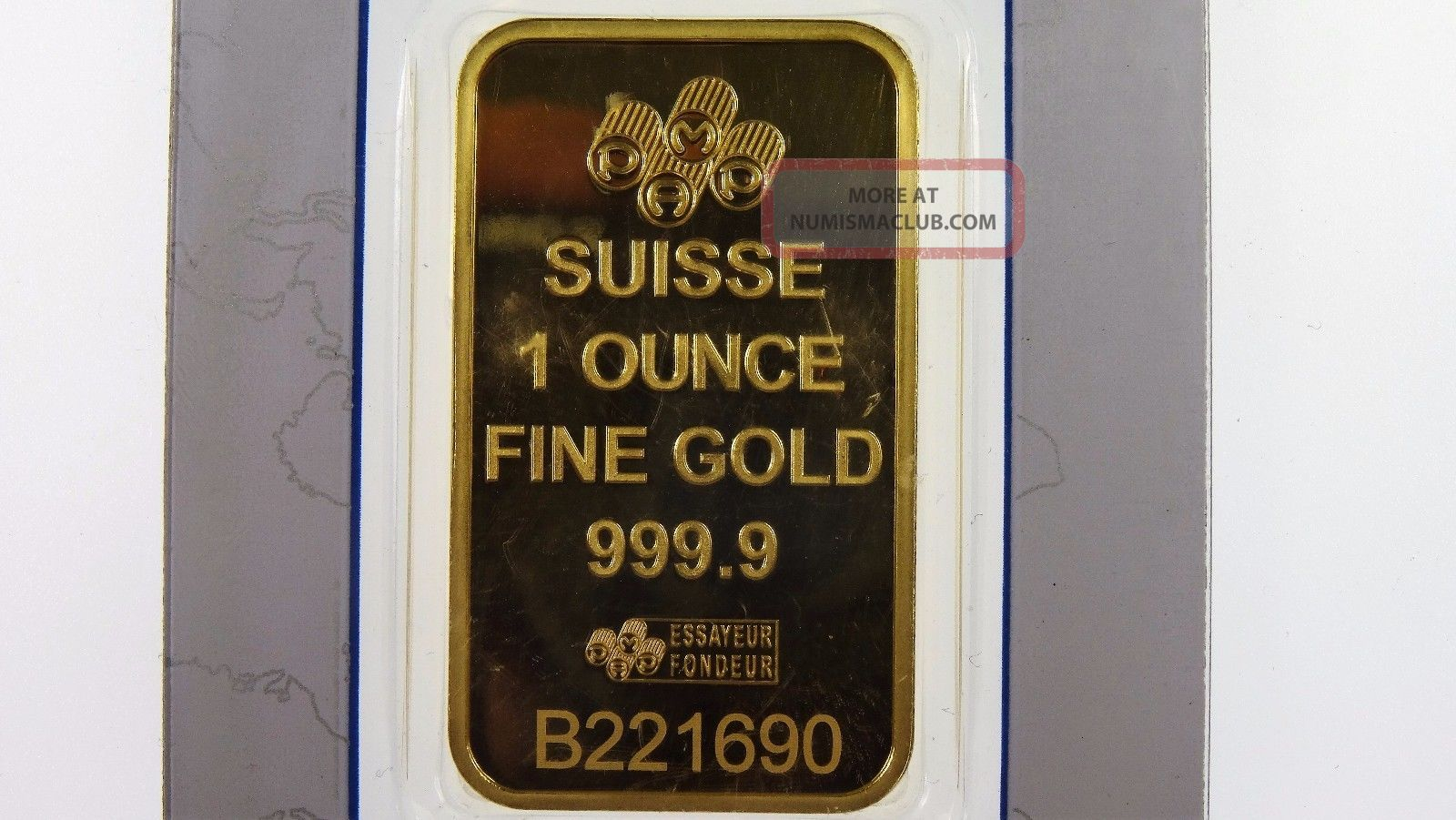 Pamp Suisse 1oz 999 9 Fine Gold Fortuna Rectangular Ingot