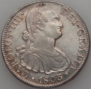 Charles Iv 8 Reales 1803 Mo - Ft photo