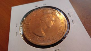 Zealand 1 Crown 1953 Elizabeth Ii Coin photo
