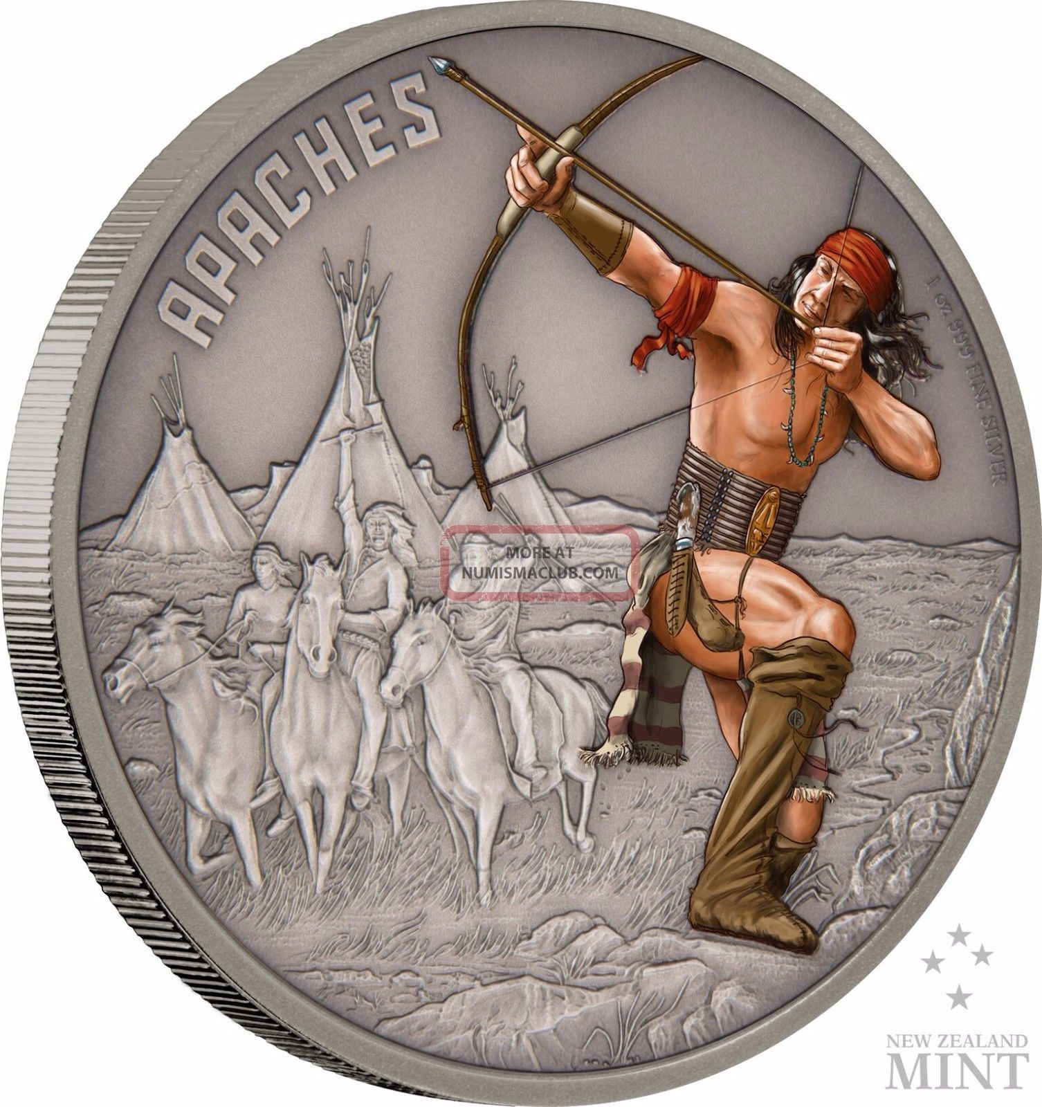 2017 Niue - Warriors Of History - Apaches 1 Oz Coin Coins: World photo