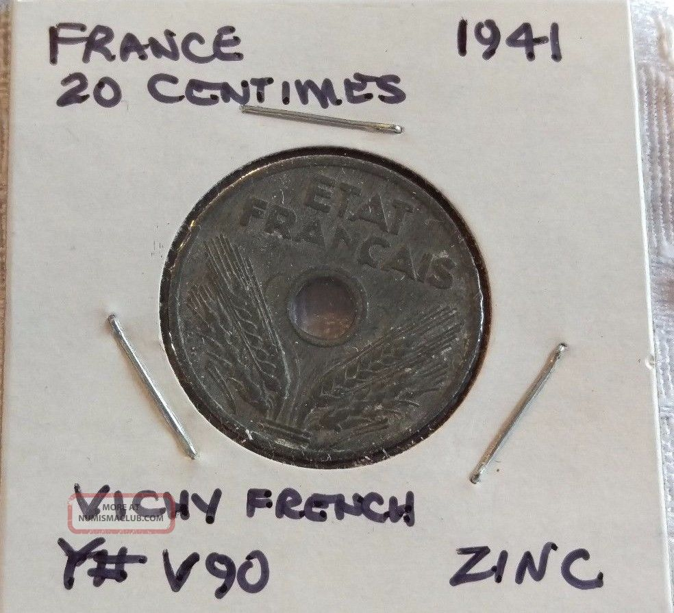 France 1941,  20 Centimes Europe photo