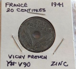 France 1941,  20 Centimes photo