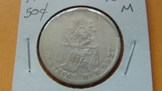 Mexico 50 Centavos,  1872 Mo M Silver Coin photo