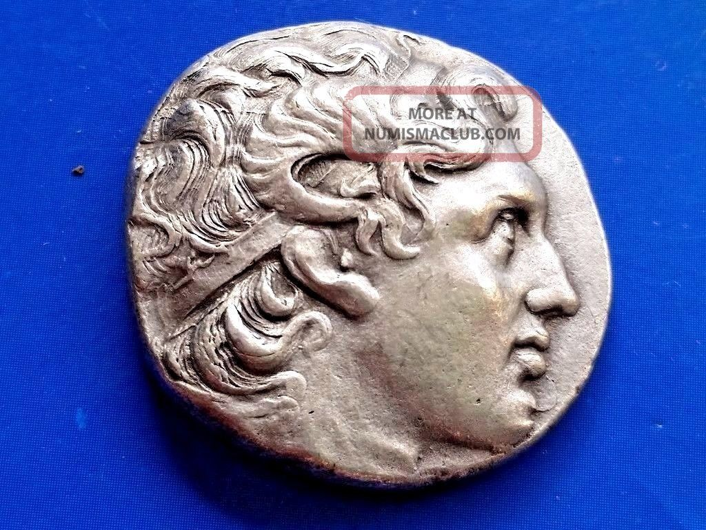 43.  Lysimachos,  The King Of Thrace,  Greek Silver Coin,  Tetradrachm; 17,  23g; 28mm Coins: Ancient photo