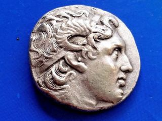 43.  Lysimachos,  The King Of Thrace,  Greek Silver Coin,  Tetradrachm; 17,  23g; 28mm photo