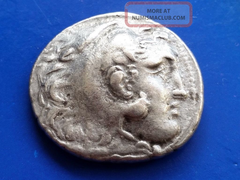 42.  Alexander The Great,  The King Of Macedonia,  Ar Tetradrachm,  17,  27g; 28mm Coins: Ancient photo