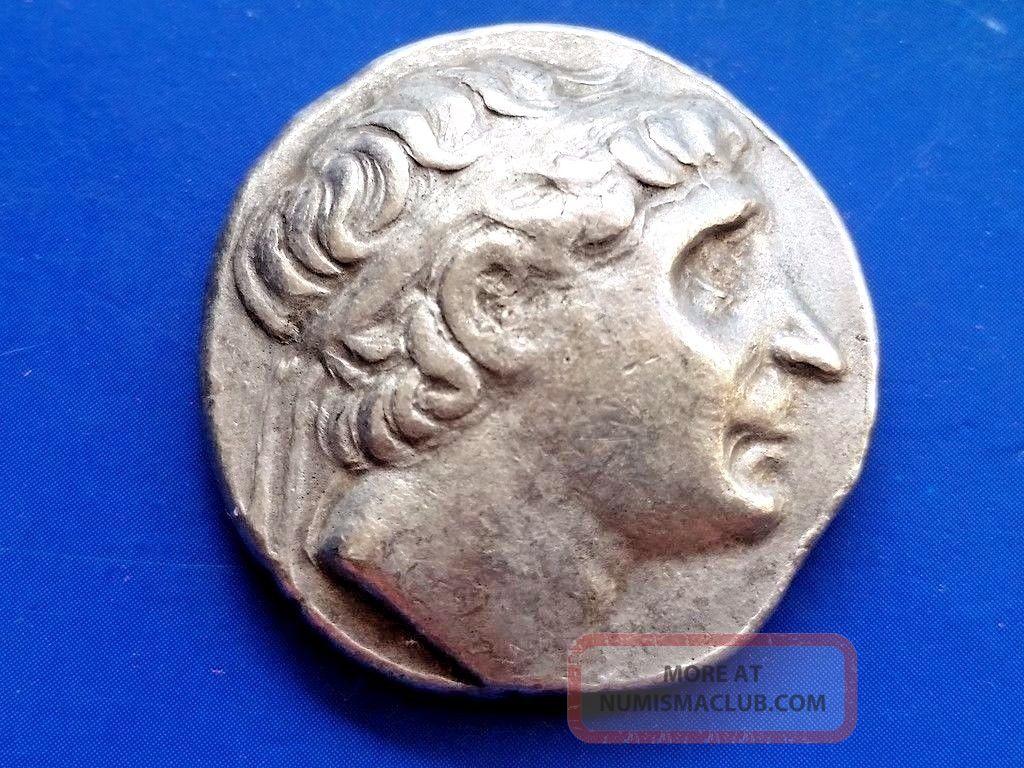 39.  Antiochus I Soter,  King Of Seleucid Empire,  Ar Tetradrachm,  17,  35g; 22,  2mm Coins: Ancient photo