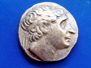 39.  Antiochus I Soter,  King Of Seleucid Empire,  Ar Tetradrachm,  17,  35g; 22,  2mm photo