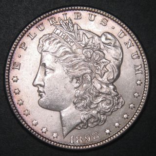 1898 Morgan Dollar $1 90 Silver Coin Sku 400203 photo