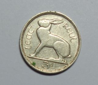 Ireland : Irish Threepence 1939.  Low Mintage.  Key Date. photo