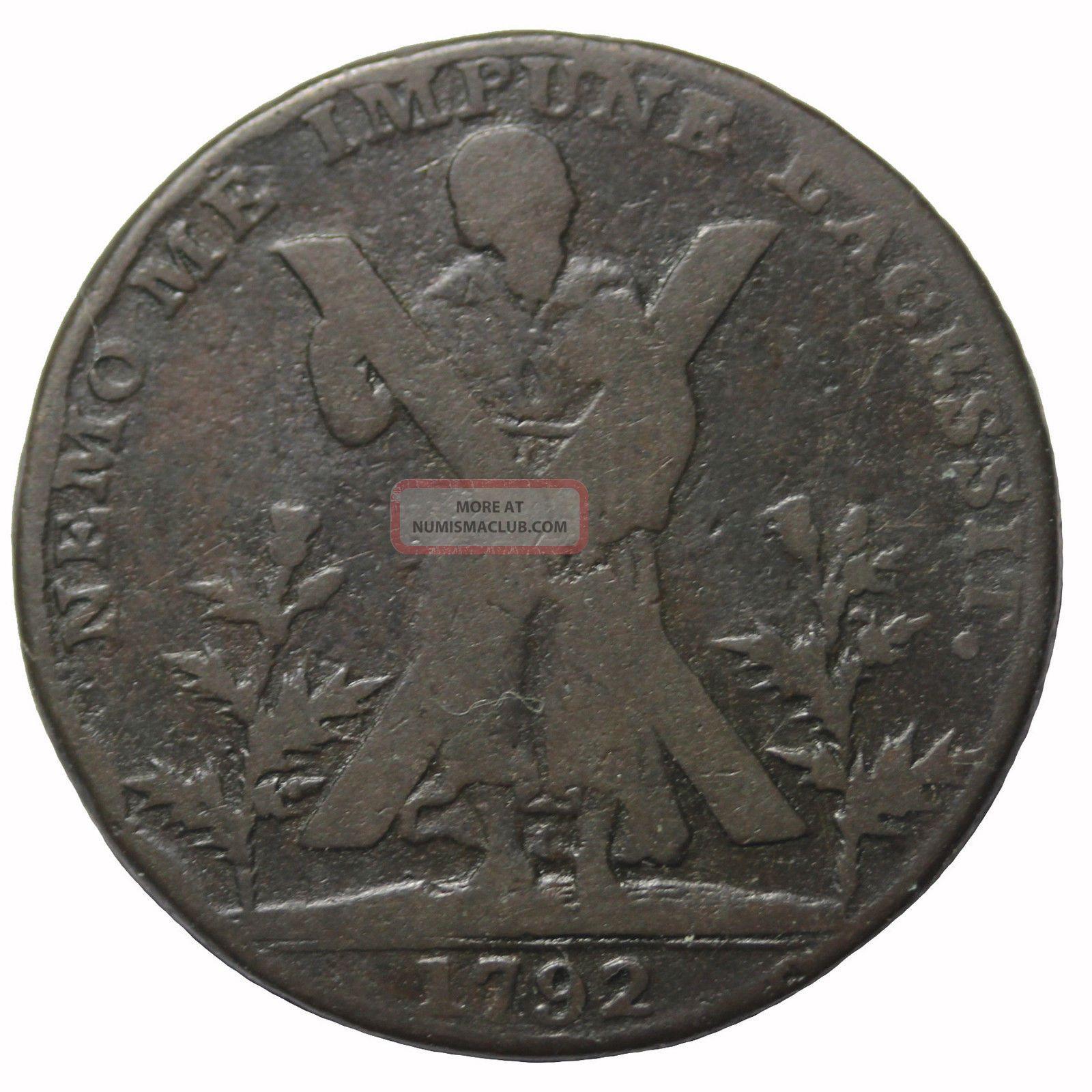 1792 Scotland Lothian Edinburgh Hutchisons Halfpenny Conder Token Dh - 41 UK (Great Britain) photo