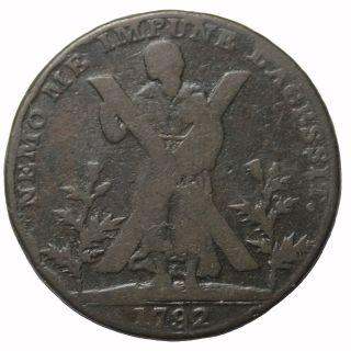 1792 Scotland Lothian Edinburgh Hutchisons Halfpenny Conder Token Dh - 41 photo