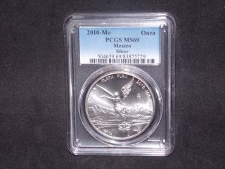 2010 - Mo Pcgs Ms69 1onza Mexico Silver Libertad photo