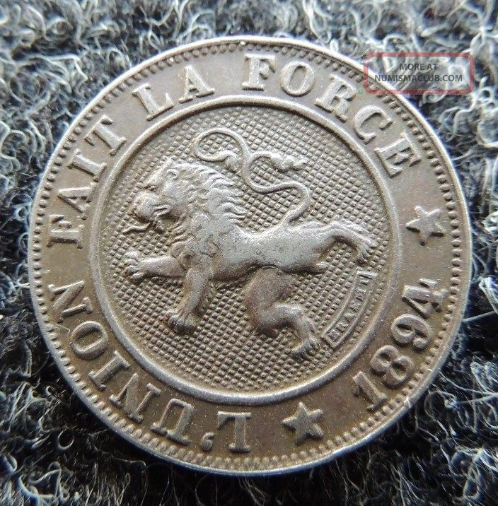 Belgium 1894 10 Cent Very Fine Km - 42 Great Coin Europe photo