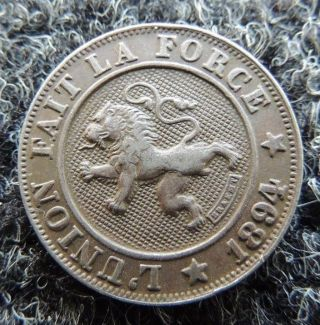 Belgium 1894 10 Cent Very Fine Km - 42 Great Coin photo