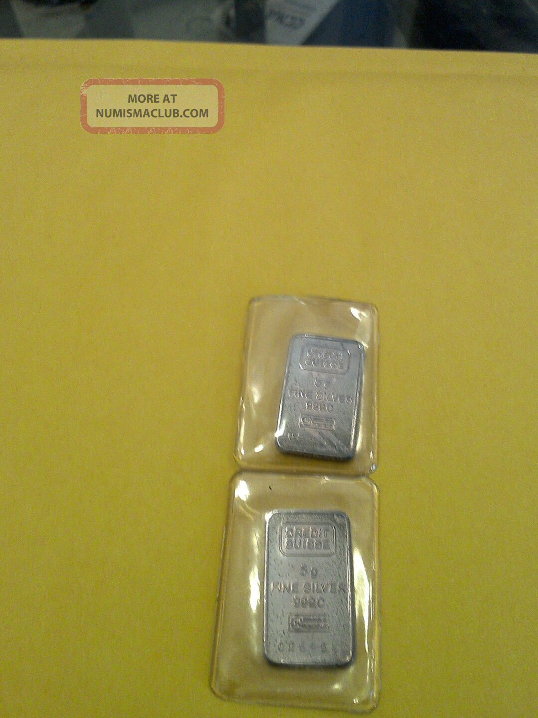 5 Gram Credit Suisse Bar Platinum photo