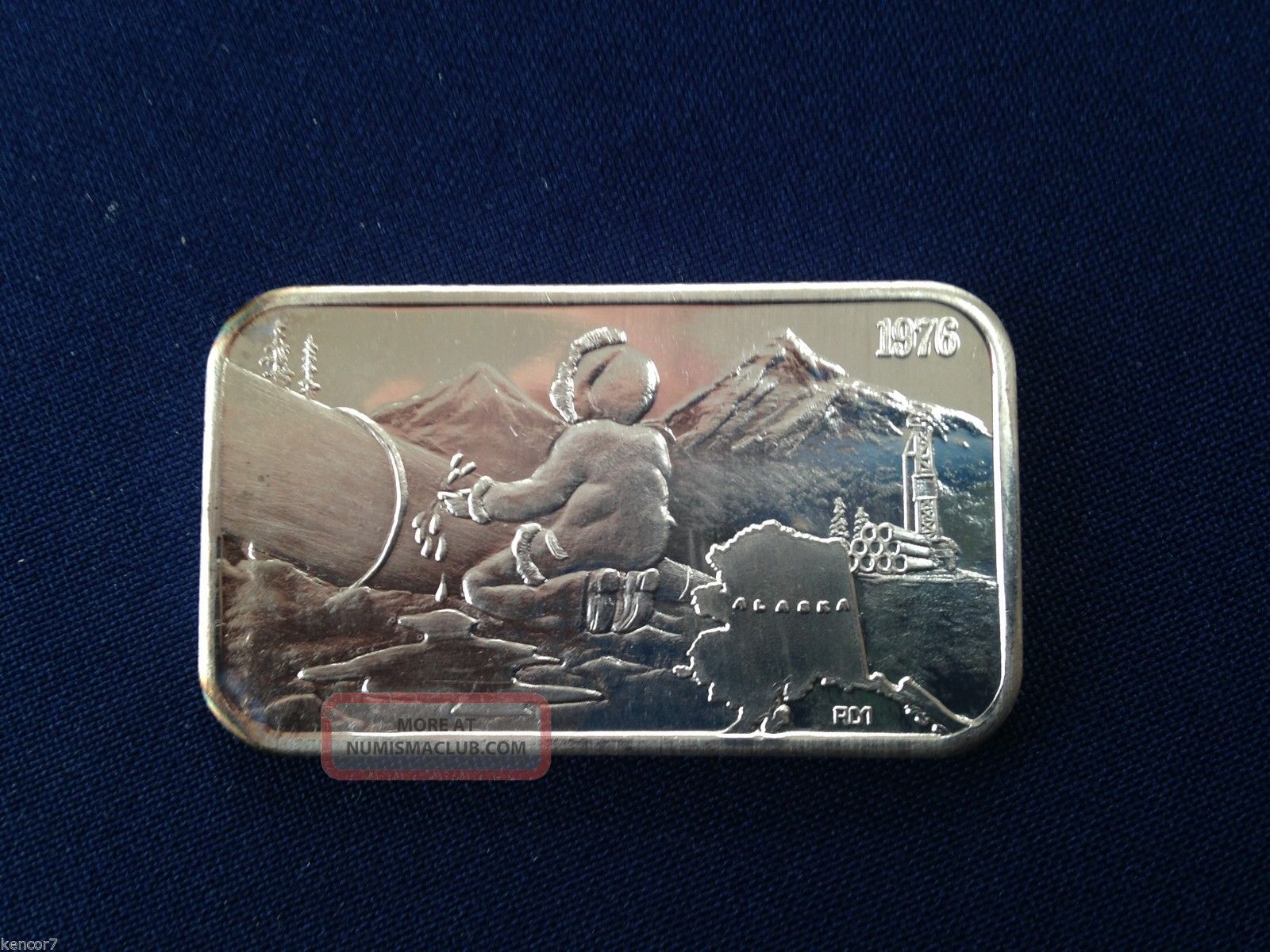 1976 American Alaska Pipeline Am - 10 Serial 0168 Silver Art Bar P1980 Silver photo