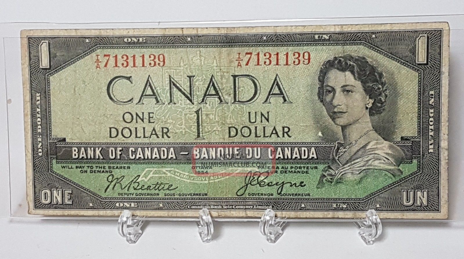 1954 Canada One Dollar Devils Face