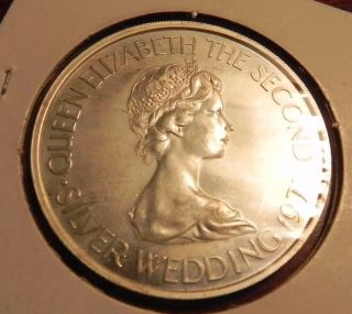 Jersey 2 Pounds 50 Pence,  1972 Sterling Silver,  25th Wedding Anniversary photo