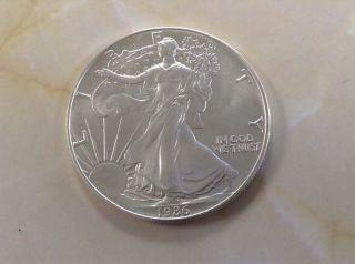 1986 U.  S.  Silver American Eagle And 2 photo