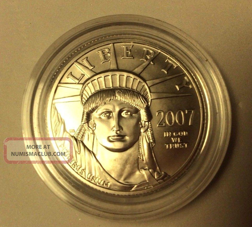 2007 W 1/2 Oz Platinum Eagle Usa - Burnished United States In Capsule Ngc Platinum photo