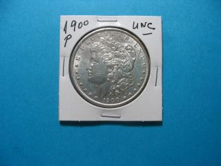 1900 - P Unc Morgan Silver Dollar Coin Take A Look photo