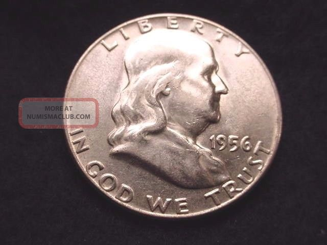 1956 Franklin Half Dollar Bu Half Dollar - - 1035 Half Dollars photo