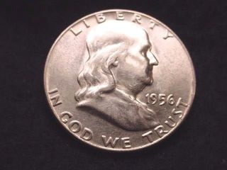 1956 Franklin Half Dollar Bu Half Dollar - - 1035 photo